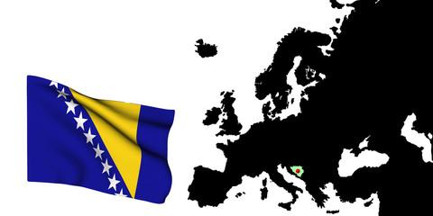Europa Centrale Bandiera della Bosnia