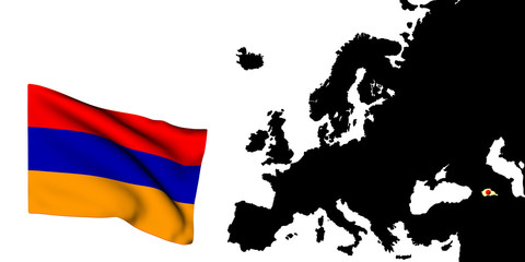 Bandiera dell'europa Armenia