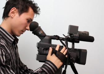 Cameraman with a camera