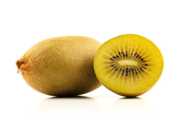 Kiwi and a half on white
