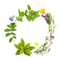 Herb Leaf and Floral Garland