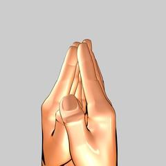 Hände beim Gebet