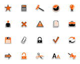 Web icons, pictograms 2 poster