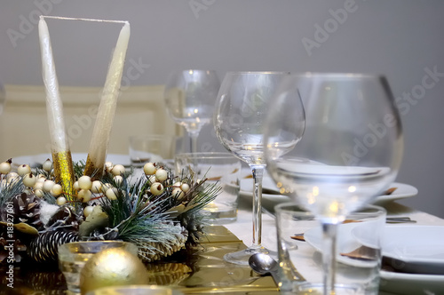 Luxury style table setting