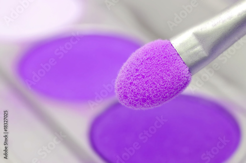 Violet eyeshadows powder