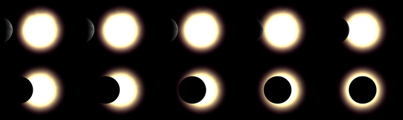 solar eclipse, 3d rendered series