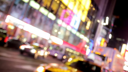 Times Square in New York City at Night, Blurred motion