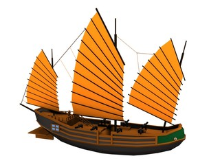 chinese pirate ship