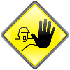 """ Keep Out "" Sign ( diamond - roadsign style - shiny - vector )"