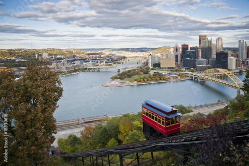 Pittsburgh, Pa with the Duquesne Incline in the foreground