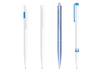 Set of fully editable vector pens. Easy to use as a template