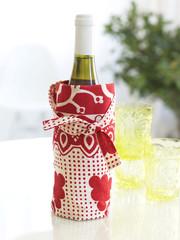 wine bottle in a cotton bag