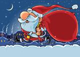 Hurry Santa poster