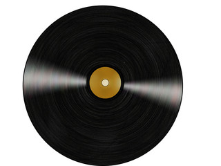 vinyl in white background