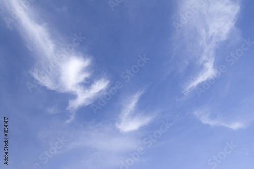 Fresh clear Blue sky with Wispy clouds