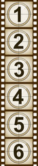 Filmstrip With Movie Numbers