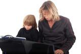 Informatique - Père et Fils ensemble poster