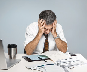 Stressed Man Worries About Economy, Paying Bills, Retirement