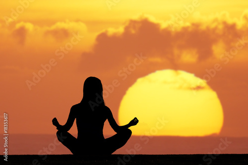 canvas print picture yoga