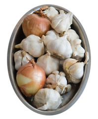 Onions and garlics