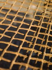 rusty metal net