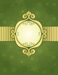 Green christmas frame