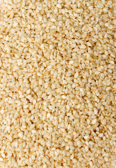 Close shot of a group of sesame seeds