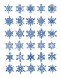 30 unique snowflakes in all / 6 different sets / vector