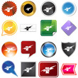 Lightning Fist Icon Set