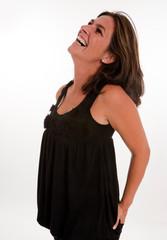 Laughing brunette