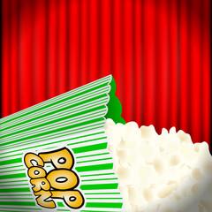 popcorn vor kinovorhang