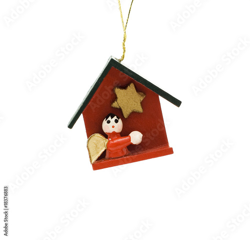 Wooden Christmas decoration witch represents bible themes