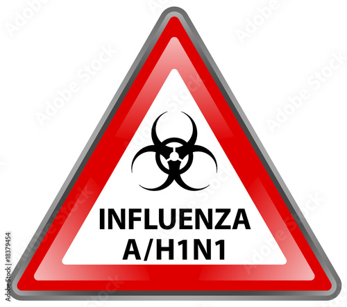 """ Influenza A / H1N1 Hazard "" Sign (triangle - vector)"