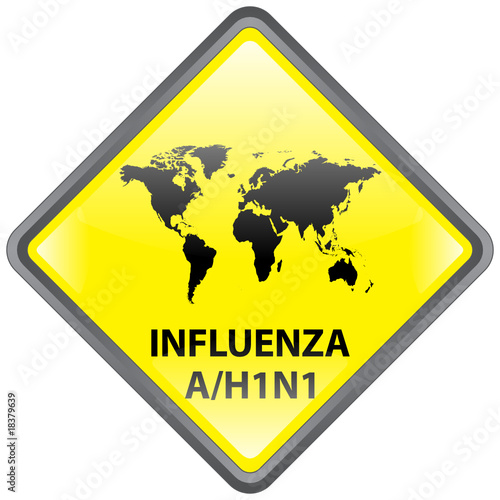 """ Influenza A / H1N1 Pandemic "" Sign (diamond - vector)"