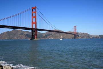 Golden Gate Bridge on a Beautiful Day
