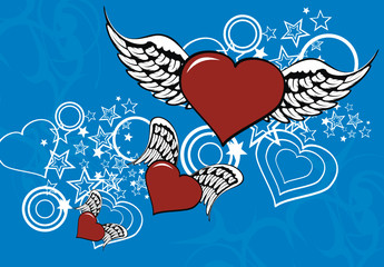 winged heart background1
