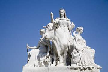 London - Albert memorial - sculpture of Europa