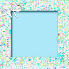 blue mosaic frame