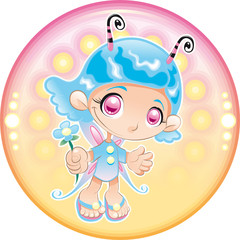 Baby Fairy. Cartoon and vector illustration