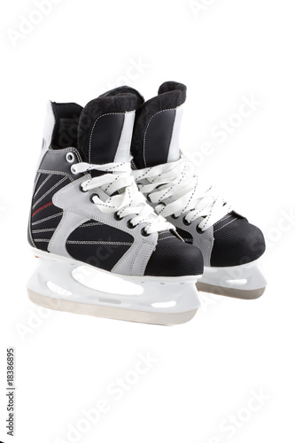 Ice-skates isolated on white.