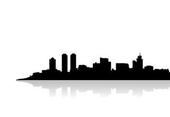 colombo ceylon skyline vector