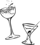 cocktail, Gläser, Alkohol, drink, Getränke, Feier, Fest poster