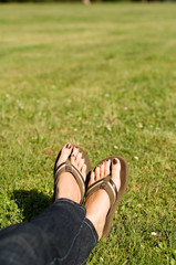 With Flip Flops at Park