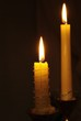 canvas print picture - Kerzen im Dunkel
