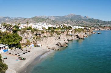 Beach at Nerja Andalucia Spain