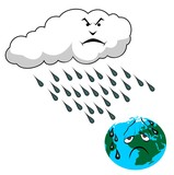 acid rain vector illustration poster