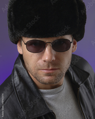 Russian man with Ushanka