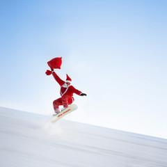 Santa auf der Piste