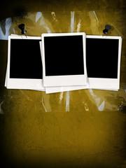 Blank Photos on Concrete Wall