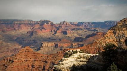 (1136) Grand Canyon Arizona Landscape Rain Clouds Timelapse LOOP